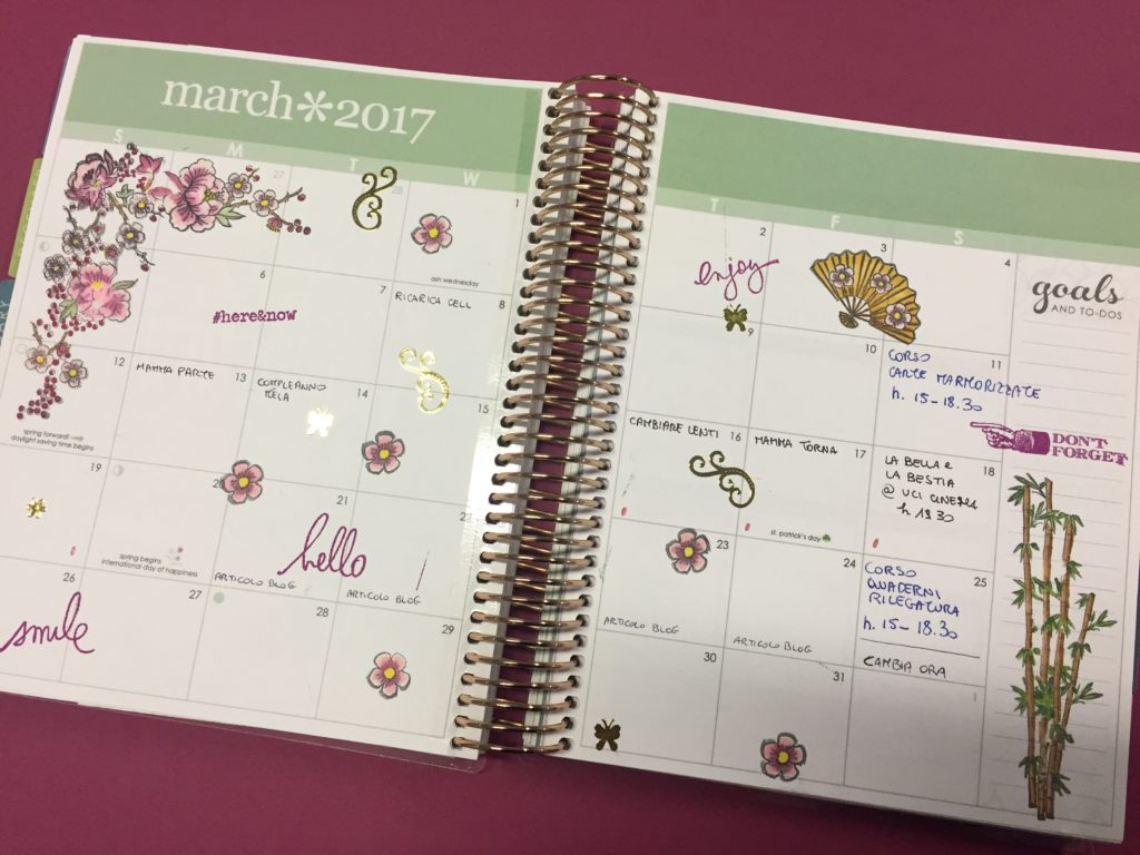 visione mensile planner