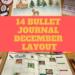 visione mensile dicembre bullet journal
