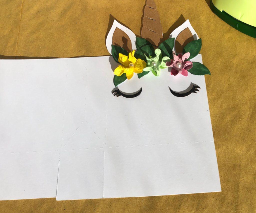 decorazione della scatola unicorno