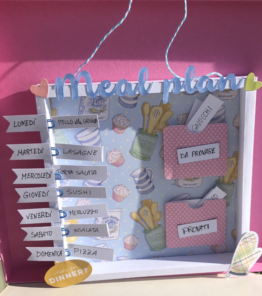 shadow box meal planner tutorial scrapbooking