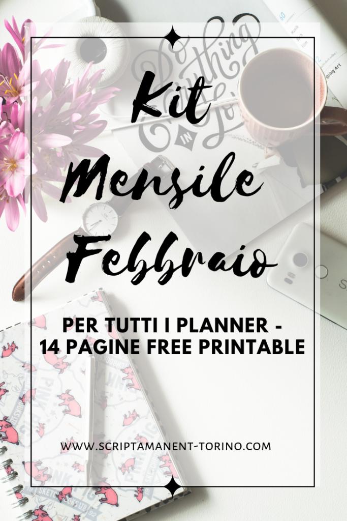 kit mensile febbraio #febbraio #monthlykit #monthlyspread #planneraddict