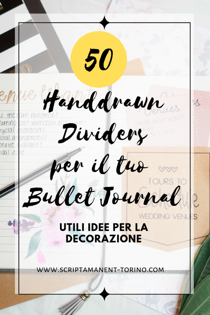 50 handdrawn divider - idee per il tuo bullet jorunal #bujoideas #bujoinspirations