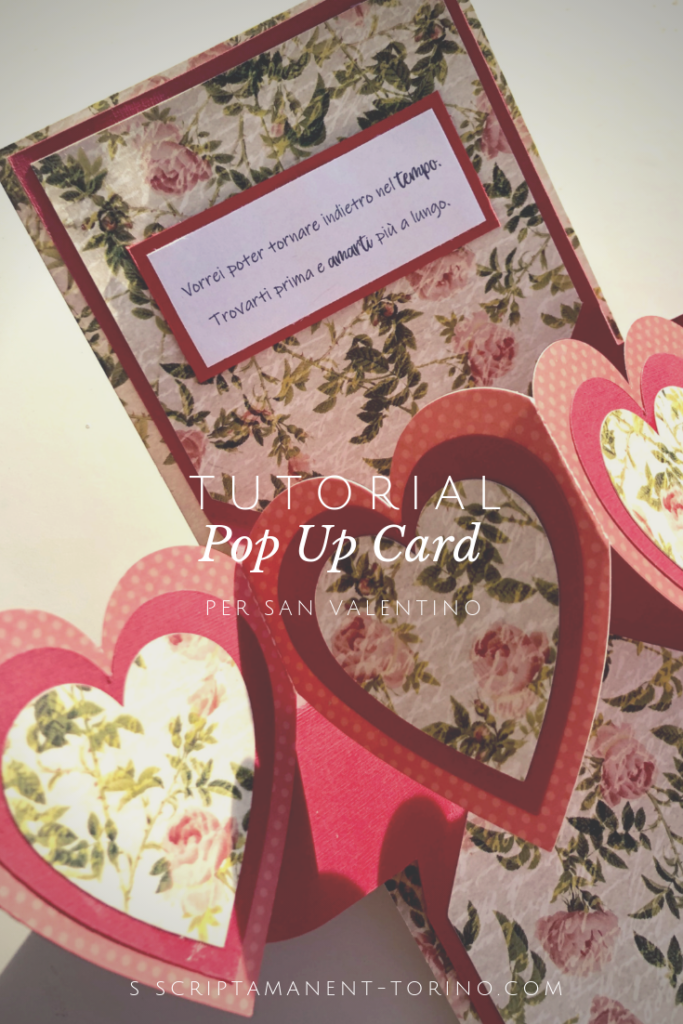 tutorial pop up card san valentino