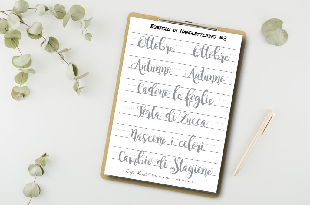 handlettering autunno