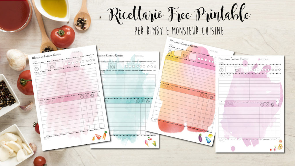 ricettario free printable monsieur cuisine